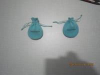 50pcs/lot , 6.5*8.5 cm,round shape,brand  jewelry  blue color pouches !