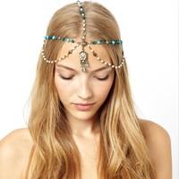 European and American trade with boximiyasongshi hair accessories  women headband Pearl drops lead ornaments H0023