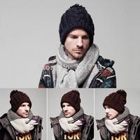 winter hip hop beanie men beanie womens hats,thick warm knit twist beanie with ball