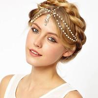 European trade jewelry  luxury fashion and the r luxury Ribbon hair accessories women hairband headband H0054