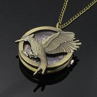 New Bronze Color Pocket Watch  Bird Necklace Pendant Watch Reloj De Bolsillo P496