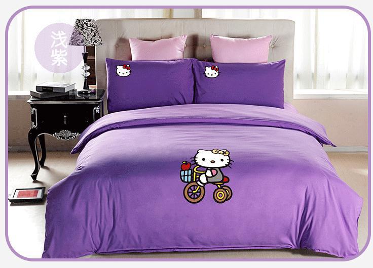 Hello Kitty Decoratie Slaapkamer : Hello Kitty Pink and Purple Bedding
