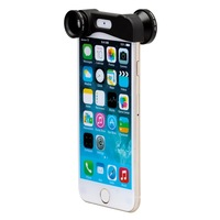 Neewer 180 Degree Fisheye Lens + Wide Angle Lens + Macro Lens 3-IN-1 Quick-Change Camera Photo Lens Kit for iPhone 6 (Black)