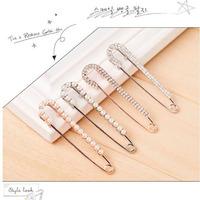 G4R7C Luxurious Wedding Gift Pearl  Crystal Brooch Full Shining Rhinestone brooch pin