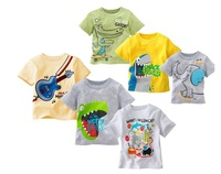 2015 summer new children's T-shirt boy cartoon casual T number of multicolor