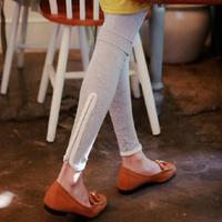 2015 Spring New Women Cotton Leggings Leg Open Zippers Elastic Slim Leggings Fashion Skinny Pants BCL5125
