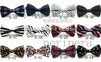 Free Shipping+Wholesale Mens Tuxedo Bow Tie Unisex Floral Star Check Polka Dot Stripes Print Bowtie Neckwear,300pcs/lot