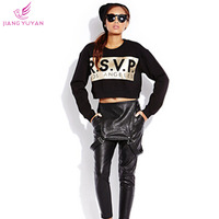 Autumn Winter Pullovers Long Sleeve Letter Print Knitted Sweatshirts Women Short Crop Tops   Casual Streetwear Clothing