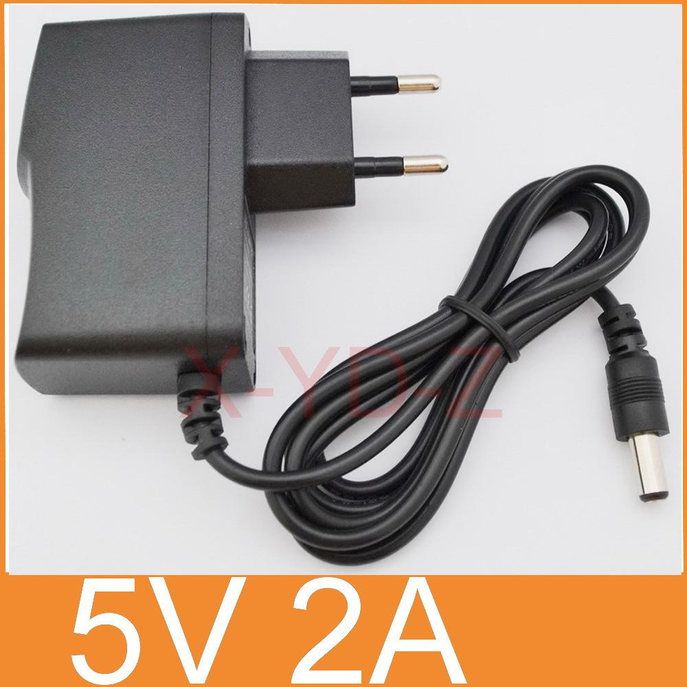 1PCS 5V2A New AC 100V-240V Converter Adapter DC 5V 2A 2000mA Power Supply EU Plug DC 5.5mm x 2.1mm Free post shipping(China (Mainland))