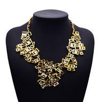 2015 New Design Fashion Luxury Statement Mental Gold Hollow Vintage Clain Necklace Pendants Collar Choker Jewelry 3941
