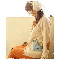 2015 Spring Autumn New Character Bird Kintted Sweater Outwear Long Sleeve Women Knitwear Cardigans yw14081