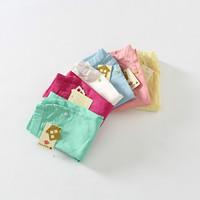 New 2015 arrivals baby girls candy color pencil pants  5pcs/lot