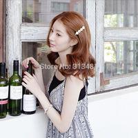 A9R1C Womens Wedding Bridal girls hair clips Pink Blue White colors Daisy Flower women hair accessories