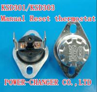 5PCS KSD301/KSD303 45C Manual Reset  thermostat  10A/250V CQC free shipping