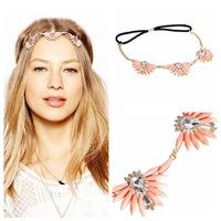 FD042 manufacturers wholesale Europe foreign trade selling boximiyayakeli jewel flower headband