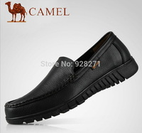Camel Genuine Leather Handmade Shoes Bulk of First Layer Cowhide Mocassins for Men Casual   Bulk Brand Men Leather Shoes