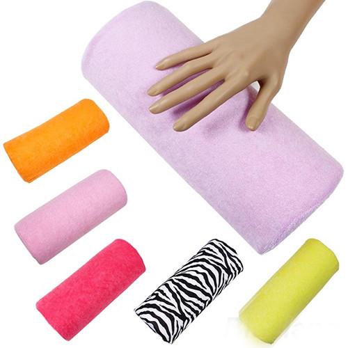 2015 Hot Wholesale Half Hand Cushion Rest Pillow Nail Art Design Manicure Care Salon Soft Column Jason0603(China (Mainland))