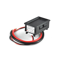"20A DC Ampere Current Digital Panel Meter 0-20A 4-30V DC Power Supply Ammeter LED Red 0.56"" 3 Digits"