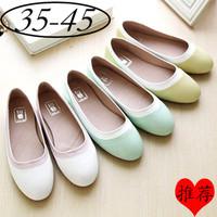 Plus size women's shoes 40 - 45 flat heel round toe plus size single shoes 41 - 43 flat Moccasins