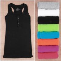 High Quality Hot sexy Cami Bodycon Vest Mini Sleeveless T-Shirt Tank Tops woven cotton rib knitting for Ladies Women Girl