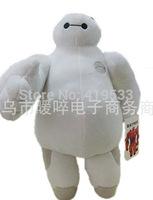 new High quality Free Shipping NEW ARRIVAL 6pcs/lot Big Hero 6 Baymax 32cm plush doll Hiro's friend white baymax leg movable toy