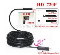Mini 10mm Dia USB Endoscope 2.0MP 720P HD Endoscope Camera 1080*720 Borescope Industrial Pipe Inspection Camera IP67 Waterproof