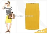 New Spring Summer 2015 European Brand Women OL Pencil Knee-Length Skirts Womens Mini Skirt Plus Size S- XXL