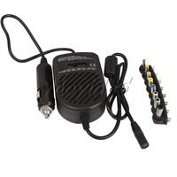 Universal DC Laptop Car Auto Charger Power Supply Adapter 80W LED Indicator