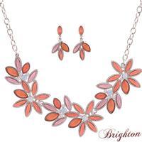 Jewelry Sets Bijoux Women Shiny Crystal Flower Shape Pendant New 2015 Design Choker Necklace With Drop Earrings