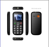 New unlocked GSM Senior phones Dual SIM Big button SOS emergency key MP3 FM cell phone with torch Free shipping