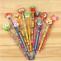 Min Order $15(mixed order) Creative stationery  Pupils prizes cartoon  new Eraser pencil   Color random 039al