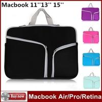 "For MacBook Air/Pro Retina Dual Zipper Portable Soft Case Bag For Macbook Pro Retina 11''13"" 15"" Laptop Notebook Bag Sleeve"