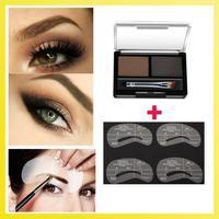 (Min Order 10$) Makeup Eyebrow Powder Cake Brow Powder 2 shades Long Lasting Waterproof with Gift Eyebrow Stencil