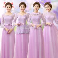 Yarn 2015 evening dress formal dress purple long slim design