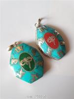 TBP823  Tibetan six words mantras amulets pendant,Tibet octagon Buddha Eye amulet pendants Ethnic jewelry