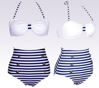 New Sexy High Waist Zebra Women Bikinis Set Striped Swimsuits Swimming Wear BeachWear  S M L XL