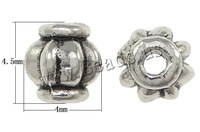 Free shipping!!!Zinc Alloy Jewelry Beads,Lucky Jewelry, Lantern, antique silver color plated, corrugated, nickel