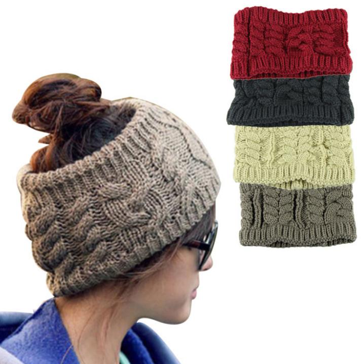 Essential Fashion Casual Girl Women Headwear Head Wraps Crochet Twist Flower Elastic Headbands Hair Accessories(China (Mainland))