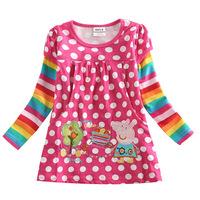 Wholesales 2015 Baby Girls Cartoon Peppa Pig Gilrs T Shirt Kids Full Sleeve T-shirt Children Summer Tops Tee Kids Wear