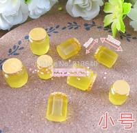 Free shipping 50 PCS food play props environmental protection resin honey jar three-dimensional simulation