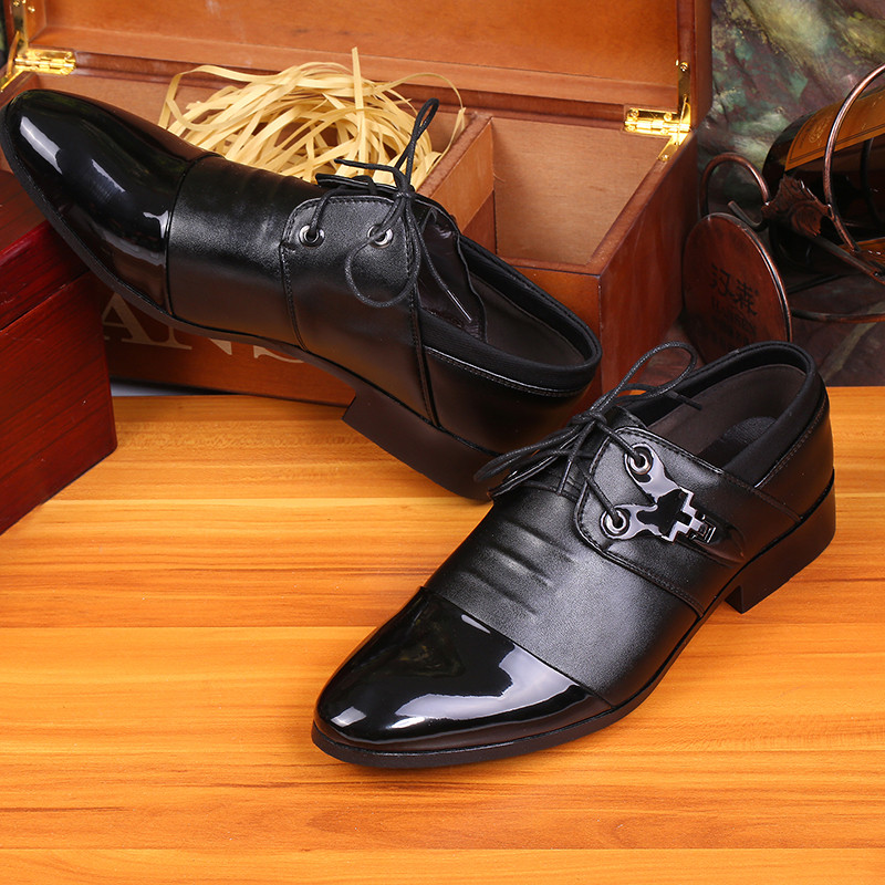 2015 men wedding shoe business suit leather shoes(China (Mainland))