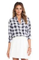 Equipment Original EQ 100% real silk crepe de Chine two pockets plaid women blouses check lady long sleeve shirts