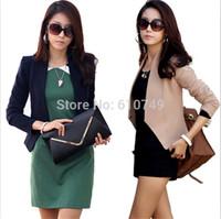 2015 new Korean Slim casual cardigans small suit women work wear jacket short paragraph office women formal coat plus size