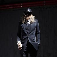 Free shipping! New England men's fashion trend wild Diablo simple atmospheric Slim Suit