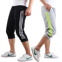 Sports shorts thin male basketball capris male sports capris summer 100% cotton breathable running fitness Free shipping
