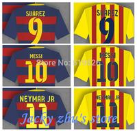 15/16 Soccer Jerseys MESSI NEYMAR JR XAVI INIESTA SUAREZ Football shirt 15 16 home and away  Soccer Camiseta