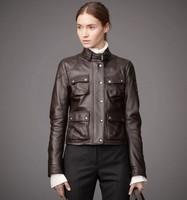 2015 Spring  Autumn Winter Pu Plus Size Spliced jaquetas Zip Ladies' Motorcycle Bomber Jackets Women' Faux Leather Slim Coats