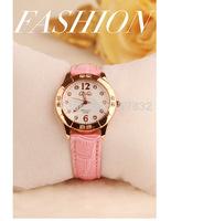 fashion korean students watch girl leather band Quartz calibre Analog wristwatch lady analog clock watches female relogio