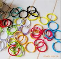 2015 New 500pcs/lot free shipping New Candy Color Rope Elastic Girl's Hair Ties Bands Headband hair beauty Strap Hair Band
