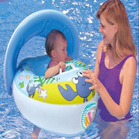 clearance Children swimming ring Sun-shading baby inflatable seat ring Swimming boat sale Free shipping